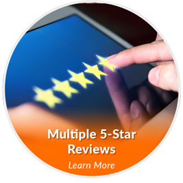 multiple 5 star reviews icon